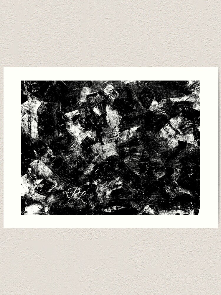 Alternate view of Black and White Abstract Art Print
