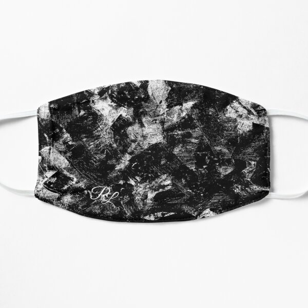 Black and White Abstract Flat Mask