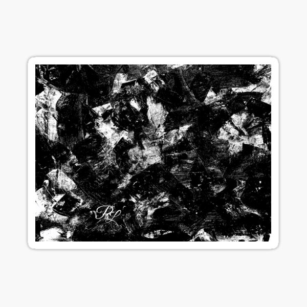 Black and White Abstract Sticker