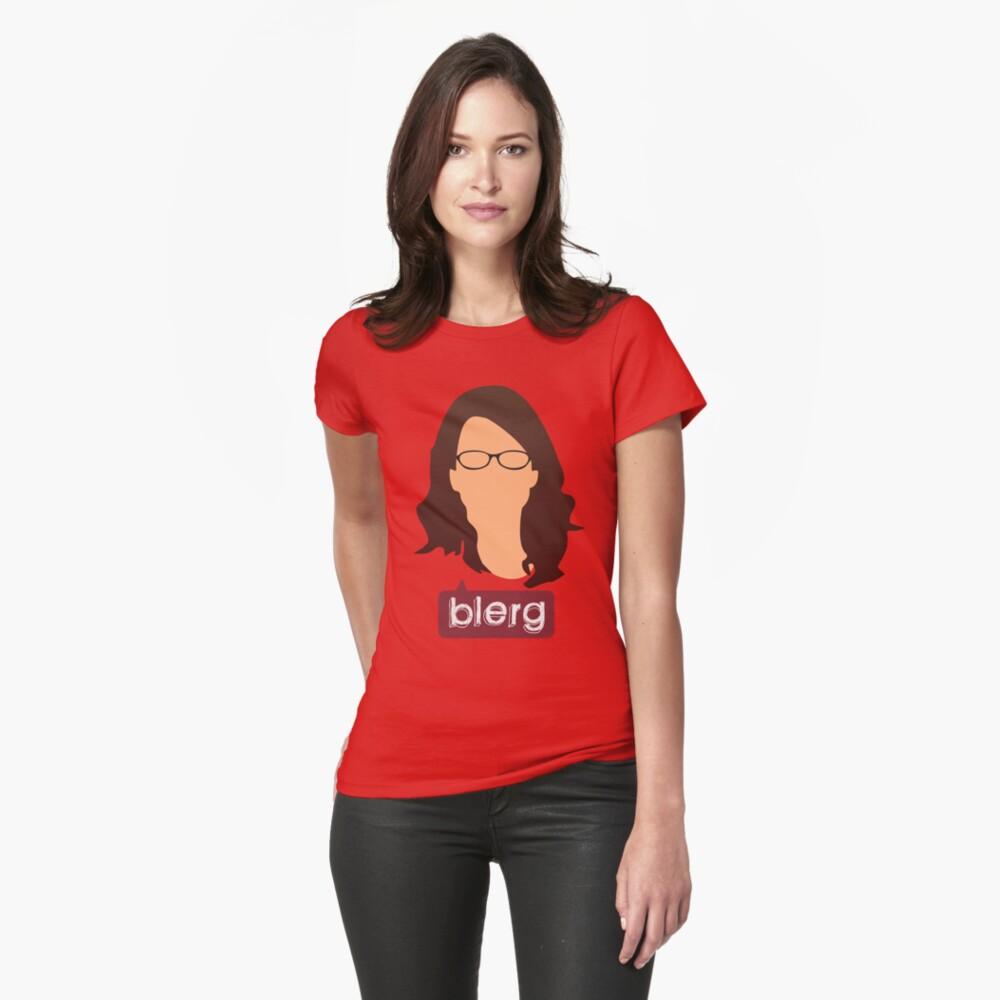 Liz Lemon - Blerg Fitted T-Shirt