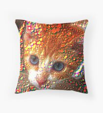 Meet Redbubble Cat! Throw Pillow