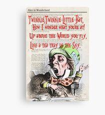 Lienzo Dictionary Art Type Print - Alice in Wonderland / Mad Hatter