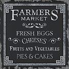Farmer's Market Chalkboard 1 by Debbie DeWitt