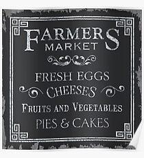 Farmer's Market Chalkboard 1 Poster