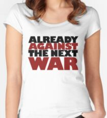 Against WAR Women's Fitted Scoop T-Shirt