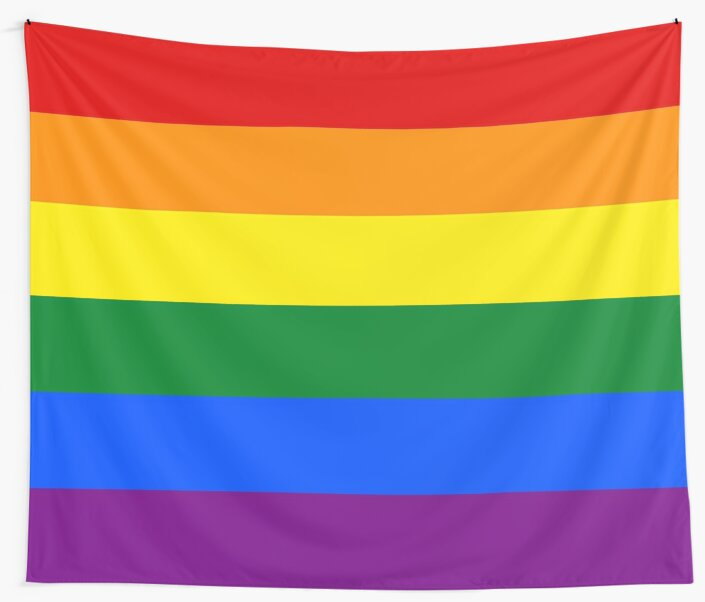 Quot Gay Pride Rainbow Flag Quot Wall Tapestries By Public Redbubble