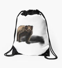 American Brown Bear Drawstring Bag
