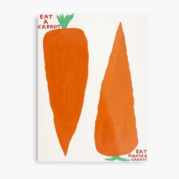 Rabbit Eat A Carrot Metal Print