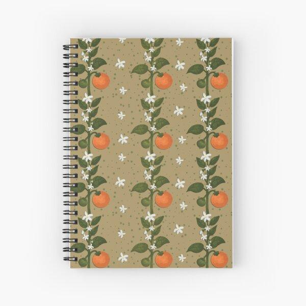 Tangerine Flowers Paper Spiral Notebook