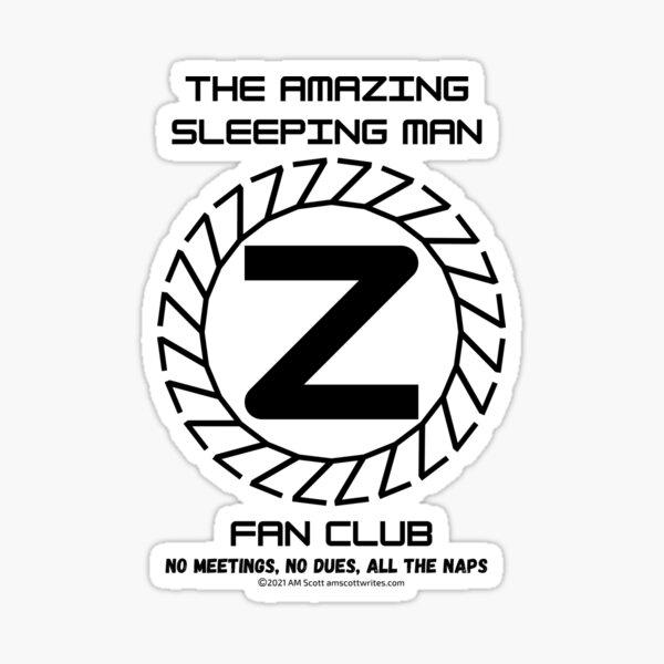 The Amazing Sleeping Man Fan Club Official Gear Sticker