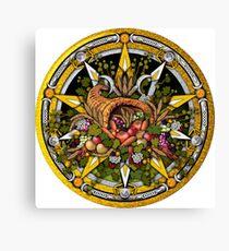 Sabbat Pentacle for Mabon the Autumnal Equinox Canvas Print