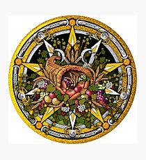 Sabbat Pentacle for Mabon the Autumnal Equinox Photographic Print