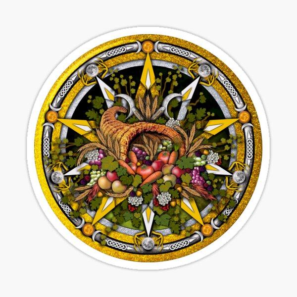 Sabbat Pentacle for Mabon the Autumnal Equinox Sticker