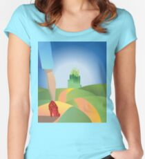 glitter yellow brick road  Women's Fitted Scoop T-Shirt