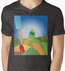 glitter yellow brick road  Mens V-Neck T-Shirt