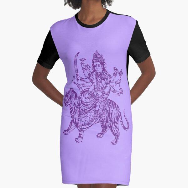 DURGA-4 Graphic T-Shirt Dress