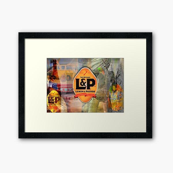 Lemon and Paeroa - L&P Framed Art Print