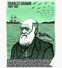 Póster Ilustrando grandes mentes - Charles Darwin