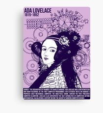 Illustrating Great Minds - Ada Lovelace Canvas Print