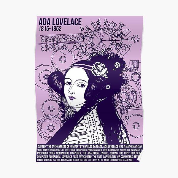 Illustrant les grands esprits - Ada Lovelace Poster