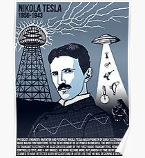 Illustrating Great Minds - Nikola Tesla Poster