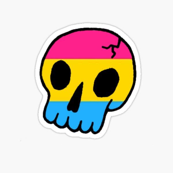 Pansexual Skull Sticker