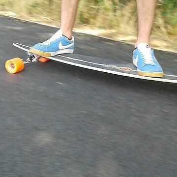 Longboard Riding by Rogann