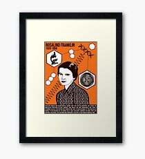 Illustrating Great Minds - Rosalind Franklin Framed Print
