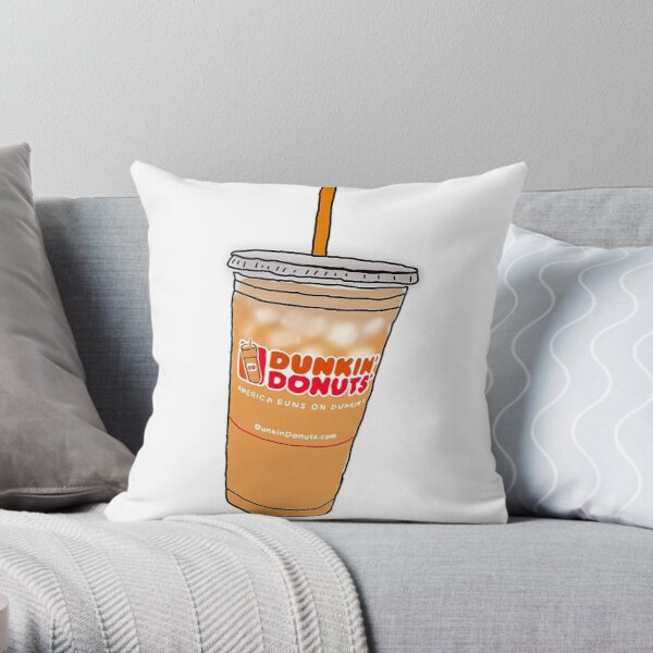 Dunkin' Dounts' iced coffee Throw Pillow