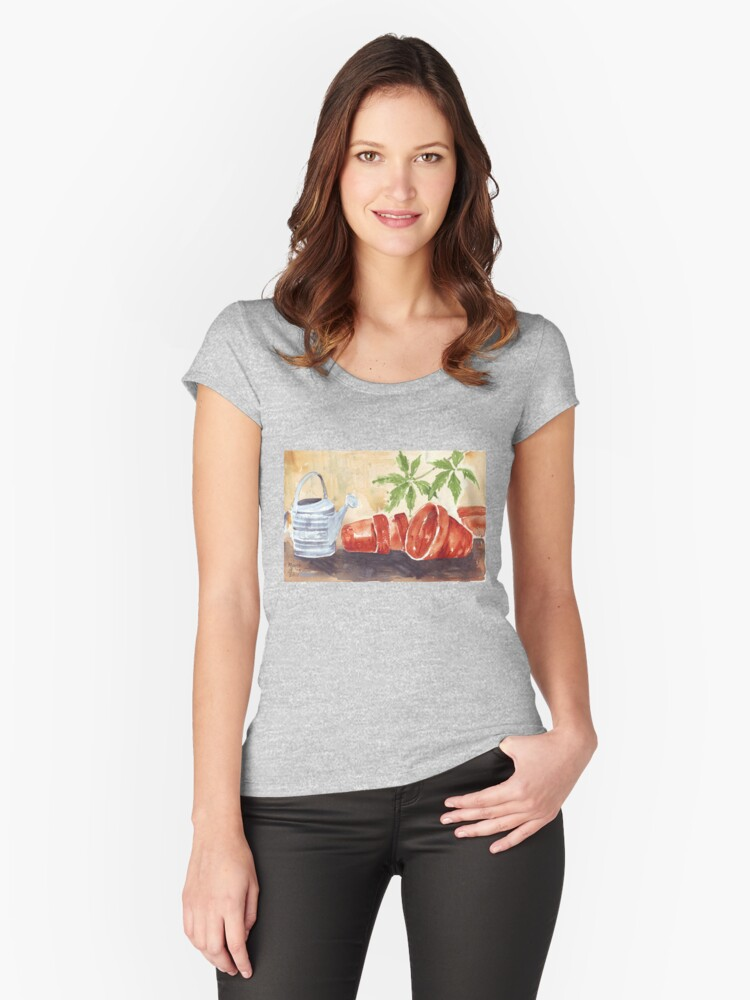 A Shelf in my Garden Shed Women's Fitted Scoop T-Shirt Front