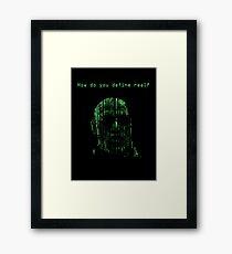 The Matrix Morpheus Code Framed Print