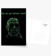 The Matrix Morpheus Code Postcards