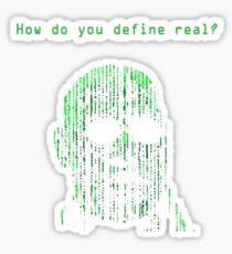 The Matrix Morpheus Code Sticker