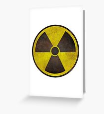 Radioactive Fallout Symbol - Scratched Greeting Card