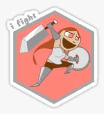 The Warrior - I fight! Sticker