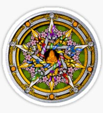 Sabbat Pentacle for Beltane, the Celtic May Day Festival Sticker