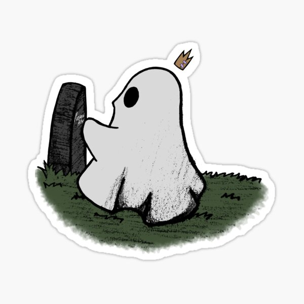 Reminiscing ghost Sticker