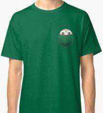 Camiseta clásica hilera de bolsillo