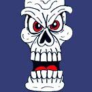 Doodle Devil Skull by Malcolm Kirk