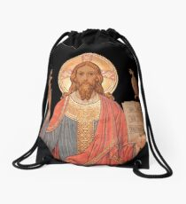 Jesus,Jesus christ,antique art,christian,catholic,faith,God Drawstring Bag