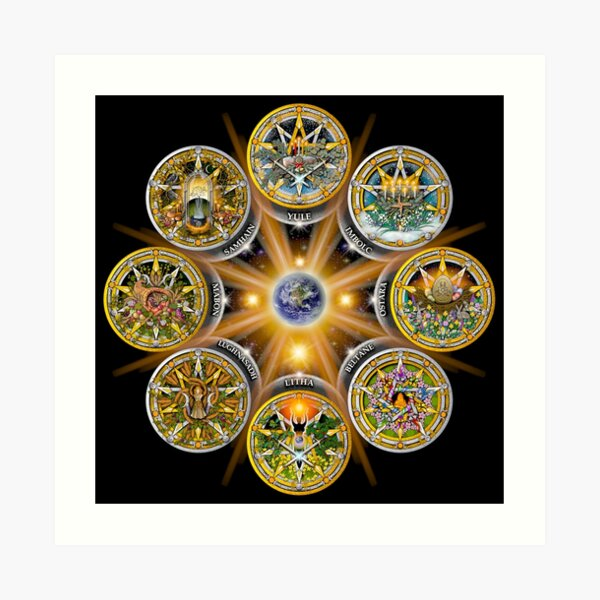 Witches' Wheel of the Year Art Print