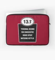 13.1 - Binge Watching Record Laptop Sleeve