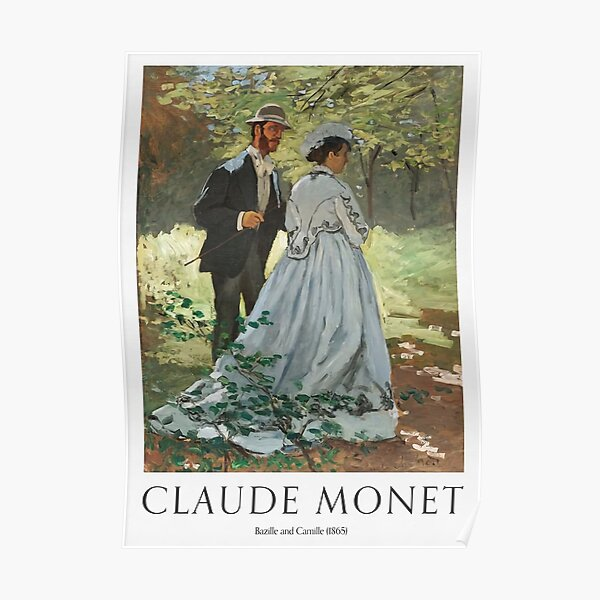 Bazille And Camille 1865 Poster