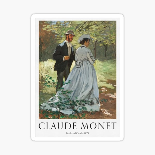 Bazille And Camille 1865 Sticker