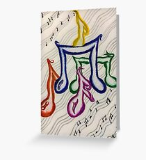 music muse white  Greeting Card