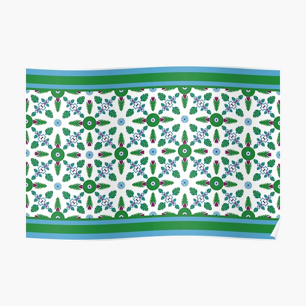 Ethnic pattern for textile, geometry shape. Poster