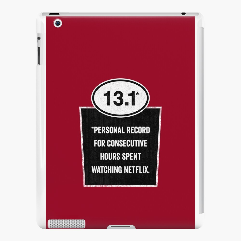 13.1 - Binge Watching Record iPad Cases & Skins