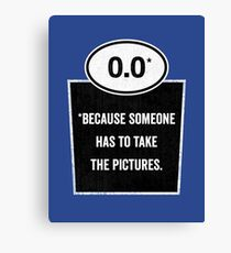 0.0 - Take the Pictures Canvas Print