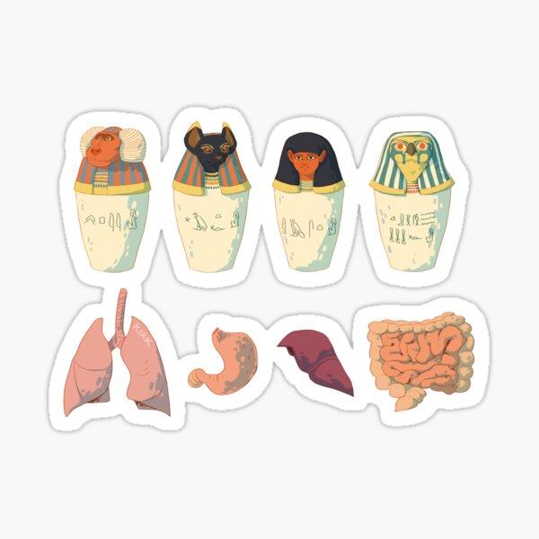 Canopic Jars  Sticker