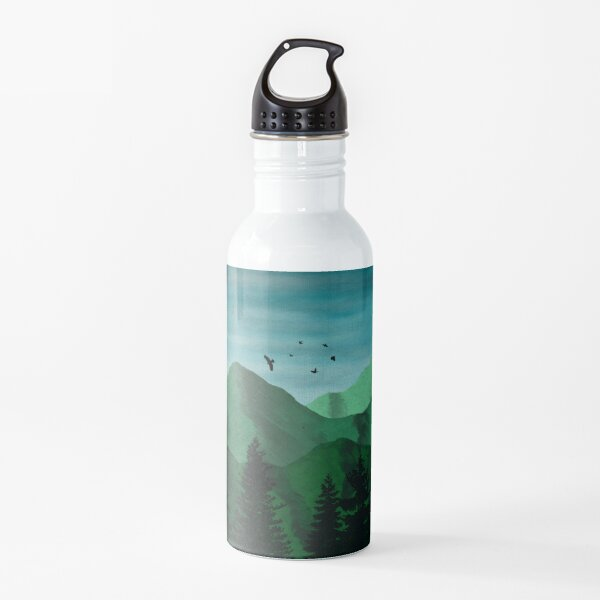 The Lush Mountains Water Bottle